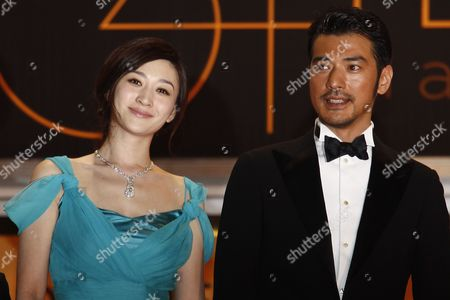 Chinese Actress Li Xiaoran (l) and Takeshi Kaneshiro (r) Arrive For the Screening of 'Wu Xia' During the 64th Cannes Film Festival in Cannes France 13 May 2011 the Movie by Chinese Director Peter Chan is Presented out of Competition As Part of the Midnight Screenings Section at the Film Festival Running From 11 to 22 May France Cannes