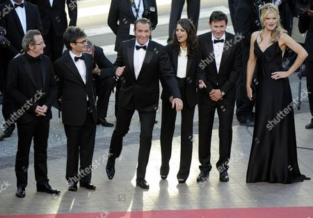 French Director Michel Hazanavicius (2-r) Us Actress Missi Pyle (r) French Actress Berenice Bejo (3-r) French Actor Jean Dujardin (3-l) French Cinematographer Guillaume Schiffman (l) and French Producer Thomas Langmann (2-l) Arrive For the Screening of 'The Artist' During the 64th Cannes Film Festival in Cannes France 15 May 2011 the Movie by Michel Hazanavicius is Presented in the Official Competition of the Film Festival Running From 11 to 22 May France Cannes