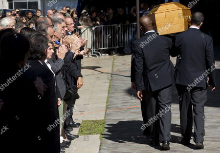 Pallbearers Carry the Coffin of Late French Director Claude Chabrol After a Ceremony to Pay Tribute to Claude Chabrol in Paris France 17 September 2010 Chabrol who Died at the Age of 80 on 17 September 2010 is One of France's Most Eminent Film Directors and Known For Founding the New Wave Movement in French Cinema of the 1950s France Paris
