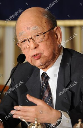 Japanese Nobel Prize Laureate Akira Suzuki Speaks to the Media During a Press Conference in Tokyo Japan 04 February 2011 Suzuki's Work on Cross-coupling Reactions Which Has Had a Significant Impact on Catalytic Chemistry and Material Science and on Organic Synthetic Chemistry is Widely Known As the 'Suzuki Reaction ' Japan Tokyo