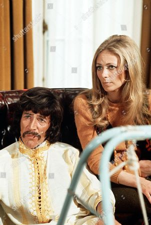 Stock Picture of 'Jason King' - 'Uneasy Lies the Head' - Peter Wyngarde and Juliet Harmer
