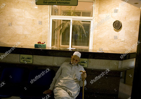 An Old Man at the Misrata Hospital in Misrata Libya on 12 April 2011 Media Reports State That Libyas Rebel-run Interim Transitional National Council (itnc) Said on 12 April 2100 the the Muammar Gaddafi Regime was 'Accelerating Attacks on Misurata' and Warned He May Be Planning a 'Potentially Devastating Attack' on the Besieged Town in the Coming Hours According to Intc Spokesman Abdul Hafiz Ghoga Gaddafi Loyalists Are Using Grad Missiles to Target the Western Town of 500 000 Which Remains in Rebel Hands Libyan Arab Jamahiriya Misrata