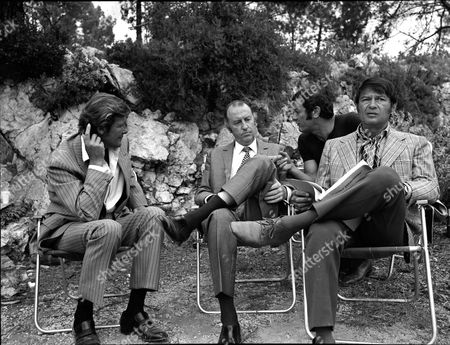 'The Persuaders' - 'Angie, Angie' - Roger Moore, Lionel Murton  and Larry Storch on set
