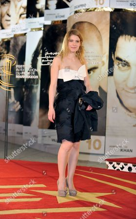 Belgian Actress Hande Kodja Arrives on the Red Carpet at the 10th Edition of the Marrakech International Film Festival in Marrakech Morocco 09 December 2010 the Festival Runs Through 03-11 December 2010 Morocco Marrakech