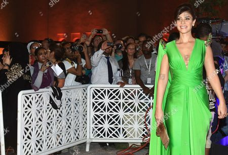 Stock Image of Egyptian Actress Basma Hassan Attends the Opening Night Gala During the Second Doha Tribeca Film Festival Held at the Katara Opera House in Doha Qatar on 26 October 2010 Qatar Doha