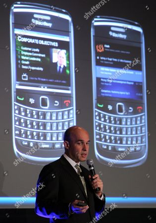Jim Balsillie Chairman and Co-chief Executive Officer of Research in Motion Ltd Talks About the New Version of Blackberry (torch) During an Exclusive Keynote Address at Gulf Information Technology Exhibition (gitex) in Dubai United Arab Emirates on 18 October 2010 Balsillie is 'Sincerely and Genuinely Excited' About Growth Potential in the Uaes Market He Said Balsillie Told the Audience That the Company was Now Actively Engaged with the Uae's Telecommunications Regulatory Authority to Develop New Applications For E-government in the Uae United Arab Emirates Dubai