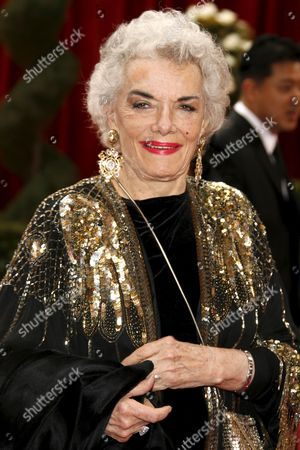Us Actress Jane Russell Arrives For the 80th Annual Academy Awards at the Kodak Theatre in Hollywood California Usa 24 February 2008 United States Hollywood