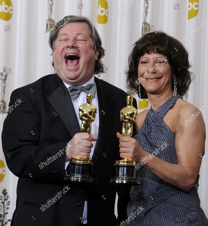Us Directors/producers Karen Goodman(r) and Kirk Simon Hold Their Oscars For Best Documentary Short Subject For Strangers No More at the 83rd Annual Academy Awards at the Kodak Theatre in Hollywood California Usa 27 February 2011 the Oscars Are Presented For Outstanding Individual Or Collective Efforts in Up to 25 Categories in Filmmaking United States Hollywood