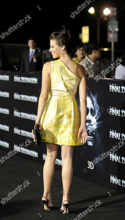 Stock Image of Us Actress and Cast Member Haley Webb Arrives For the World Premiere of 'The Final Destination' in Los Angeles California Usa 27 August 2009 Webb Plays the Role of 'Janet' in This Film About a Group of Friends who Escape Death Only to Die One-by-one United States Los Angeles