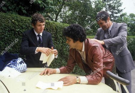 'Bloomfield'  TV - 1983 - Marc Zuber as Bloomfield (c) and Edward Peel as Gorman (r).