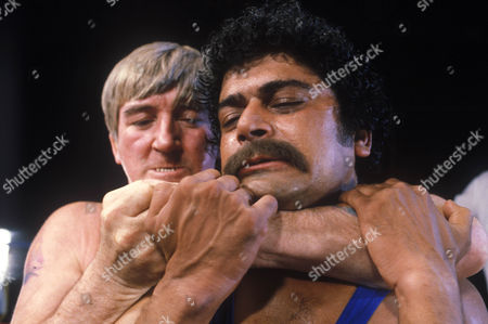 'Bloomfield'  TV - 1983 - Marc Zuber as Bloomfield and David Peart as wrestler (?)