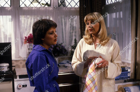 Stock Picture of 'Bloomfield'  TV - 1983 - Claire Toeman as Cherry Gibbs and Carol Hawkins as Trish Gibbs
