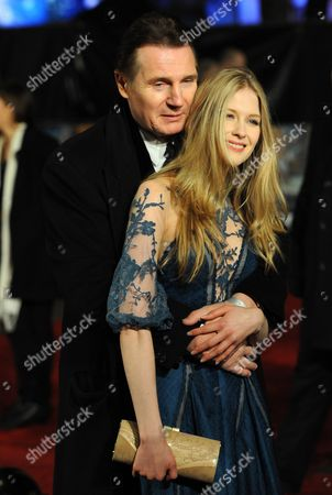 Rish Actor and Cast Member Liam Neeson (l) Hugs British Actress and Cast Member Laura Brent (r) As They Arrive at the Royal Film Performance 2010 'The Chronicles of Narnia: the Voyage of the Dawn Treader' World Film Premiere Held at the Odeon Leicester Square in Central London Britain 30 November 2010 Royals and Cast Members Are Due at an Annual Charity Screening in Aid of Cinema & Television Benevolent Fund the Movie by British Director Michael Apted is Due out in British Cinemas on 09 December 2010 United Kingdom London