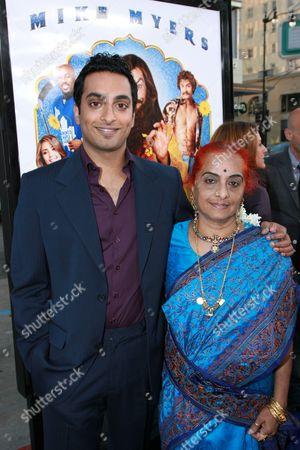 Manu Narayan and mother