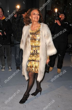 Us Fashion Designer Diane Von Furstenberg Arrives at the 'Love Ball' Charity Fundraiser Night Held at the Roundhouse in London Britain 23 February 2010 Russian Model Natalia Vodianova and Harper's Bazaar Editor Lucy Yeomans Host Fundraiser in Aid of Vodianova's Charity the Naked Heart Foundation Raising Money to Build Playgrounds For Children in Her Home Country As Well As Uk Children's Charities the Venue is Transformed Into an Adult Fairground Under the Creative Direction of British Designer Dinos Chapman the Evening Also Includes an Auction of Commissioned Works From Artists Including Jeff Koons Francesco Vezzoli Goscha Ostretsov and Marc Quinn United Kingdom London