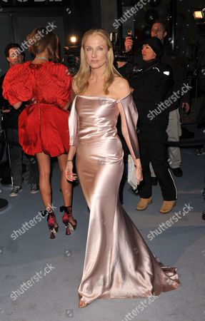 British Actress Joely Richardson Arrives at the 'Love Ball' Charity Fundraiser Night Held at the Roundhouse in London Britain 23 February 2010 Russian Model Natalia Vodianova and Harper's Bazaar Editor Lucy Yeomans Host Fundraiser in Aid of Vodianova's Charity the Naked Heart Foundation Raising Money to Build Playgrounds For Children in Her Home Country As Well As Uk Children's Charities the Venue is Transformed Into an Adult Fairground Under the Creative Direction of British Designer Dinos Chapman the Evening Also Includes an Auction of Commissioned Works From Artists Including Jeff Koons Francesco Vezzoli Goscha Ostretsov and Marc Quinn United Kingdom London