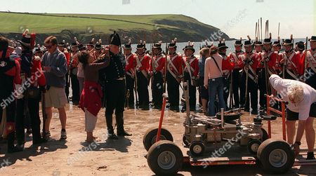 'Hornblower'   TV   Series 3 Picture Shows: Ian Mcelhinney (Hammond) and Extras During the Filming on Location.