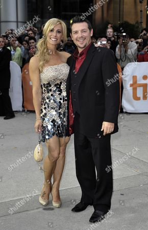 Canadian Former Nhl Hockey Player Theo Fleury (r) Arrives with His Wife Jennifer For the Premiere of the Film 'Score a Hockey Musical' on the Opening Night of the 35th Annual Toronto International Film Festival in Toronto Canada on 09 September 2010 Canada Toronto