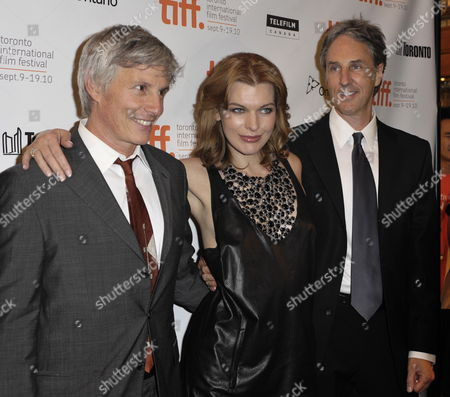 (l-r) Us Director John Curran Ukrainian Actress Milla Jovovich and Us Writer Angus Maclachlan Attend the Premiere of the Movie Stone Held at the Winter Garden Theater During the 35th Annual Toronto International Film Festival in Toronto Canada on 10 September 2010 the International Film Festival Runs 09 to 19 September 2010 Canada Toronto