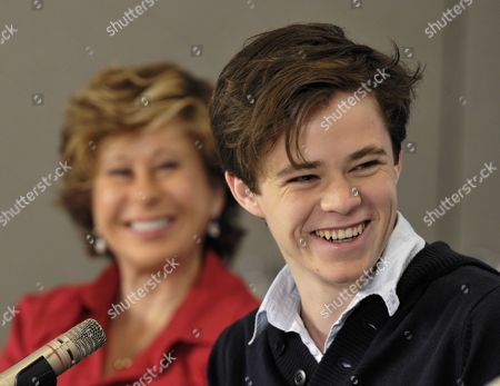 Australian Actor Harrison Gilbertson (r) and French-born Us Actress-executive Producer Yeardley Smith (rear) Attend the Press Conference For the Movie 'What's Wrong with Virginia' During the 35th Annual Toronto International Film Festival in Toronto Canada 16 September 2010 the International Film Festival Runs 09 to 19 September Canada Toronto