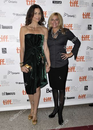 British Actress Minnie Driver (l) and Us Attorney Abra Rice Attend the Premiere of the Movie Conviction Held at the Elgin Theater During the 35th Annual Toronto International Film Festival in Toronto Canada on 11 September 2010 Driver Portrays Rice in the Movie the International Film Festival Runs 09 to 19 September 2010 Canada Toronto