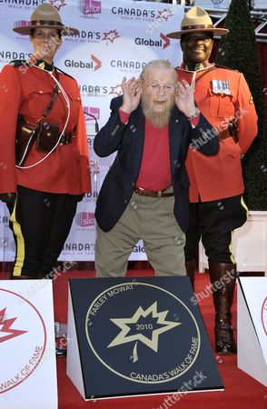 Canadian Author Farley Mowat (c) Listens to People Calling His Name After He Unveiled His Sidewalk Star at the 13th Annual Canada's Walk of Fame Ceremony in Toronto Canada on 16 October 2010 the Walk of Fame Honors Those who Have Excelled in the Arts Entertainment Sport and Science Canada Toronto
