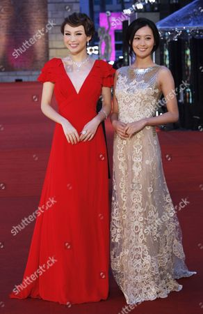 Chinese Actress Zhu Xuan (l) and Hong Kong Actress Fala Chen (r) Both Nominee For Best New Performer Arrive at the 29th Annual Hong Kong Film Awards in Hong Kong China 18 April 2010 the Hong Kong Film Award Ceremony Honours Achievement in Filmmaking This Ceremony is Considered As the Hong Kong Equivalent to the Us Academy Awards China Hong Kong