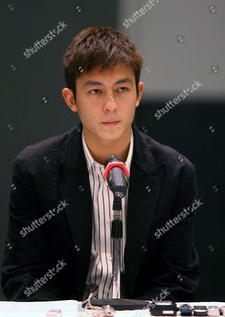 Hong Kong Actor and Singer Edison Chen Attends a Press Conference to Announce That He Will Step Away From the Hong Kong Entertainment Industry Indefinitely in Hong Kong China 21 February 2008 Chen Came to Be the Centre of a Scandal Surrounding Sex Photos of Hong Kong Celebrities Which Circulated On the Internet After He Delivered His Computer For Servicing Last Year the Sex Photos Shows Chen with Several Hong Kong Actresses Including Singer Gillian Chung of the Female Duo Twins
