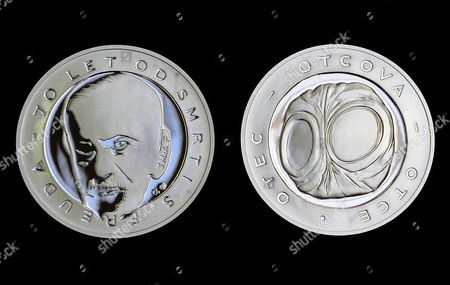 A View of Silver Medals with the Face of Czech-born Austrian Founder of Psychoanalysis Sigmund Freud (1856-1939) at a Mint in the Town of Jablonec Nad Nisou Czech Republic 26 January 2010 British Artist Jane Mcadam Freud Great-granddaughter of Sigmund Freud Created the Design For the Commemorative Medals on the Occasion of the 70th Anniversary of Sigmund Freud's Death Czech Republic Jablonec Nad Nisou