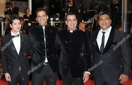Stock Picture of Indian Director Vikramaditya Motwane (2-l) Indian Actor Ronit Roy (2-r) and Indian Actor Ram Kapoor (r) Arrive For the Screening of the Movie 'Schastye Moe' (my Joy) During the 63rd Cannes Film Festival in Cannes France 19 May 2010 the Movie by Ukrainian Director Sergei Loznitsa is Presented in Competition at the Cannes Film Festival 2010 Running From 12 to 23 May France Cannes