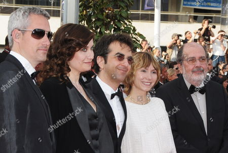 (l-r) Members of the Cinefondation Jury Spanish Director Marc Recha French Actress Emmanuelle Devos Canadian Director Atom Egoyan Russian Actress Dinara Droukarova and Brazilian Director and Producer Carlos Diegues Arrive For the Screening of the Movie 'Poetry' During the 63rd Cannes Film Festival in Cannes France 19 May 2010 the Movie by South Korean Lee Chang-dong is Presented in Competition at the Cannes Film Festival 2010 Running From 12 to 23 May France Cannes