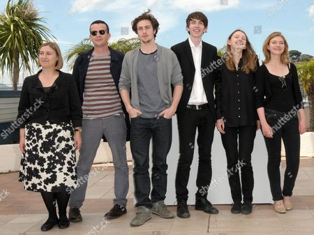 (l-r) British Producer Laura Hastings-smith Irish Screenwriter Enda Walsh English Actors Aaron Johnson Matthew Beard Hannah Murray and Imogen Poots Pose During the Photocall of the Movie 'Chatroom' During the 63rd Cannes Film Festival in Cannes France 14 May 2010 the Movie by Japanese Director Hideo Nakata is Presented in the 'Un Certain Regard' Selection at the Cannes Film Festival 2010 Running From 12 to 23 May France Cannes