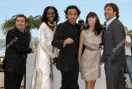 (l-r) Spanish Actor Eduard Fernandez Actress Diaryatou Daff Mexican Director Alejandro Gonzalez Inarritu Argentinian Actress Maricel Alvarez and Spanish Actor Javier Bardem Pose During the Photocall of the Movie 'Biutiful' During the 63rd Cannes Film Festival in Cannes France 17 May 2010 the Movie by Alejandro Gonzalez Inarritu is Presented in Competition at the Cannes Film Festival 2010 Running From 12 to 23 May France Cannes