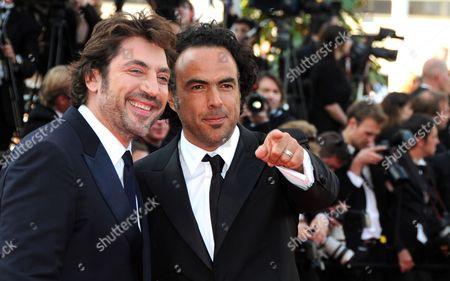 Spanish Actor Javier Bardem (l) and Mexican Director Alejandro Gonzalez Inarritu (r) Arrive For the Closing Award Ceremony of the 63rd Cannes Film Festival in Cannes France 23 May 2010 the Award Ceremony Will Determine This Year's Palme D'or Award and Will Be Followed by the Screening of 'The Tree' by French Director Julie Bertuccelli Presented out of Competition of the Cannes Film Festival 2010 France Cannes