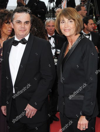 Stock Image of French Writer Alexandre Jardin (l) and Former French Minister For Culture Christine Albanel (r) Arrive For the Screening of the Movie 'Poetry' During the 63rd Cannes Film Festival in Cannes France 19 May 2010 the Movie by South Korean Director Lee Chang-dong is Presented in Competition at the Cannes Film Festival 2010 Running From 12 to 23 May France Cannes