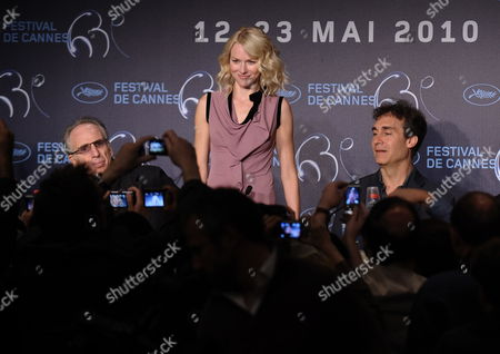 Stock Picture of (l-r) Us Producer Jerry Zucker British Actress Naomi Watts and Us Director Doug Liman Attend the Press Conference of the Movie 'Fair Game' During the 63rd Cannes Film Festival in Cannes France 20 May 2010 the Movie by Doug Liman is Presented in Competition at the Cannes Film Festival 2010 Running From 12 to 23 May France Cannes