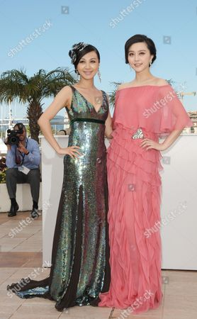 Chinese Actresses Li Feier (l) and Fan Bingbing (r) Pose During the Photocall of the Movie 'Rizhao Chongqing' (chongqing Blues) During the 63rd Cannes Film Festival in Cannes France 13 May 2010 the Movie by Chinese Director Wang Xiaoshuai is Presented in Competition at the Cannes Film Festival 2010 Running From 12 to 23 May France Cannes