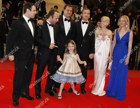 (l-r) Producers Alex Orlovsky Director Derek Cianfrance Actress Faith Wladyka Producer Jamie Patricof Actor Ryan Gosling Actress Michelle Williams and Producer Lynette Howell Arrive For the Screening of the Movie 'Copie Conforme' (certified Copy) During the 63rd Cannes Film Festival in Cannes France 18 May 2010 the Movie by Abbas Kiarostami is Presented in Competition at the Cannes Film Festival 2010 Running From 12 to 23 May France Cannes