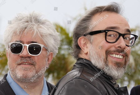 Spanish Directors Pedro Almodovar (l) and Alejandro De La Iglesia (r) Pose During a Photocall at the 63rd Cannes Film Festival in Cannes France 15 May 2010 the Cannes Film Festival 2010 Running From 12 to 23 May Celebrates Spanish Cinema at the Initiative of French Minister of Culture Frederic Mitterrand who Has Invited His Spanish Counterpart and Several Contemporary Spanish Artists France Cannes