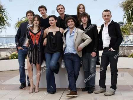 French Director Fabrice Gobert (5-l) Poses with Actors and Cast Members (l-r) Yvan Tassin Audrey Bastien Arthur Mazet Selma El Moussi Esteban Carvajal-alegria Ana Girardot Laurent Delbecque and Jules Pelissier During the Photocall of the Movie 'Simon Werner a Disparu ' (lights Out) During the 63rd Cannes Film Festival in Cannes France 20 May 2010 the Movie is Presented in the 'Un Certain Regard' Section at the Cannes Film Festival 2010 Running From 12 to 23 May France Cannes