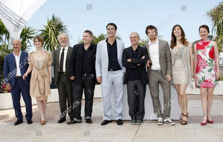 (l-r) Italian Actor Luca Zingaretti Italian Actress Isabella Ragonese Actor Giorgio Colangeli Actor Marius Ignat Italian Actor Raoul Bova Italian Director Daniele Luchetti Italian Actor Elio Germano Italian Actress Stefana Montorsi and Alina Berzenteanu Pose During the Photocall of the Movie 'La Nostra Vita' (our Life) During the 63rd Cannes Film Festival in Cannes France 20 May 2010 the Movie is Presented in Competition at the Cannes Film Festival 2010 Running From 12 to 23 May France Cannes