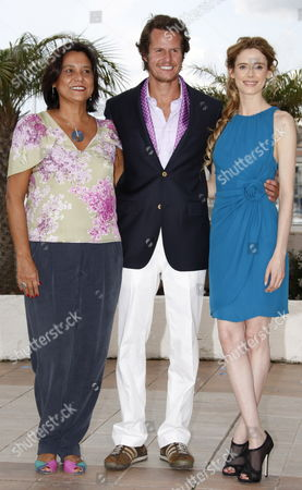 Actors and Cast Members (l-r) Ana Maria Magalhaes Ricardo Trepa and Pilar Lopez Pose During the Photocall of the Movie 'O Estranho Caso De Angelica' (the Strange Case of Angelica) During the 63rd Cannes Film Festival in Cannes France 13 May 2010 the Movie by Manoel De Oliveira is Presented in the 'Un Certain Regard' Selection at the Cannes Film Festival 2010 Running From 12 to 23 May France Cannes
