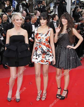 Stock Image of (l-r) French Actress Audrey Lamy French Algerian Actress Le?la Bekhti and French Actress Delphine Nakache Arrive For the Screening of the Movie 'La Princesse De Montpensier' (the Princess of Montpensier) During the 63rd Cannes Film Festival in Cannes France 16 May 2010 the Movie by Bertrand Tavernier is Presented in Competition at the Cannes Film Festival 2010 Running From 12 to 23 May France Cannes