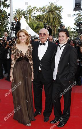 (l-r) Russian Actress Nadezhda Mihalkova Russian Director Nikita Mikhalkov and Russian Actor Oleg Menshikov Arrive For the Screening of the Movie 'Utomlyonnye Solntsem 2: Predstoyanie' (the Exodus - Burnt by the Sun 2) During the 63rd Cannes Film Festival in Cannes France 22 May 2010 the Movie by Nikita Mikhalkov is Presented in Competition at the Cannes Film Festival 2010 Running From 12 to 23 May France Cannes
