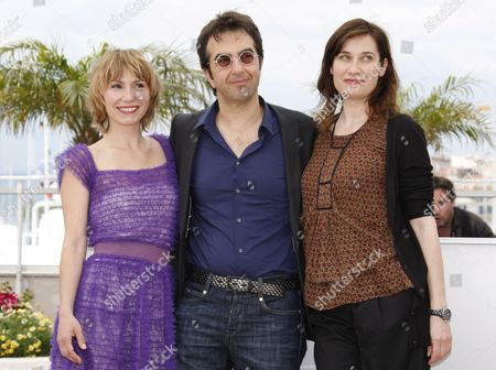 (l-r) Members of the Cinefondation Jury Russian Actress Dinara Droukarova Canadian Director Atom Egoyan and French Actress Emmanuelle Devos Pose During a Photocall During the 63rd Cannes Film Festival in Cannes France 19 May 2010 the Cannes Film Festival 2010 Runs From 12 to 23 May France Cannes