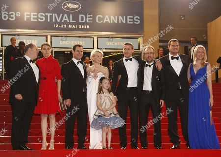 (l-r) Us Producer Harvey Weinstein with a Guest Producers Alex Orlovsky Us Actress Michelle Williams Us Actress Faith Wladyka Canadian Actor Ryan Gosling Us Director Derek Cianfrance Producers Jamie Patricof and Lynette Howell Arrive For the Screening of the Movie 'Copie Conforme' (certified Copy) During the 63rd Cannes Film Festival in Cannes France 18 May 2010 the Movie by Abbas Kiarostami is Presented in Competition at the Cannes Film Festival 2010 Running From 12 to 23 May France Cannes