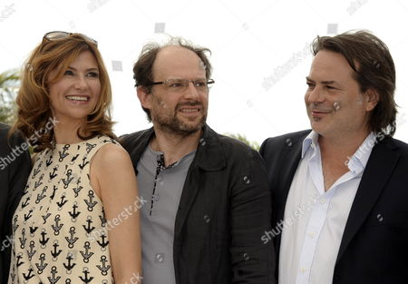 (l-r) French Actress Florence Pernel French Actor Denis Podalydes and French Director Xavier Durringer Pose During the Photocall For 'La Conquete' (the Conquest) at the 64th Cannes Film Festival in Cannes France 18 May 2011 the Movie by Xavier Durringer is Presented out of Competition at the Film Festival Running From 11 to 22 May France Cannes
