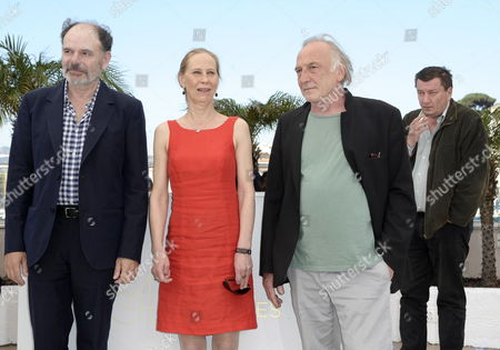 (l-r) French Actor Jean-pierre Darroussin Finnish Actress Kati Outinen French Actor Andre Wilms and Finnish Director Aki Kaurismaki Pose During the Photocall For 'Le Havre' at the 64th Cannes Film Festival in Cannes France 17 May 2011 the Movie by Aki Kaurismaki is Presented in the Official Competition of the Film Festival Running From 11 to 22 May France Cannes