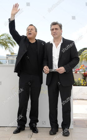 Israeli Actors Shlomo Bar Aba (l) and Lior Ashkenazi (r) Pose During the Photocall For 'Hearat Shulayim' at the 64th Cannes Film Festival in Cannes France 15 May 2011 the Movie by Israeli Director Joseph Cedar is Presented in the Official Competition of the Film Festival Running From 11 to 22 May France Cannes