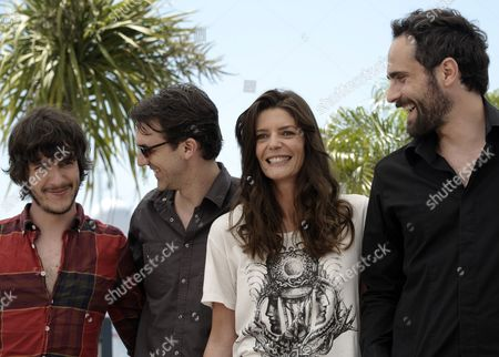 (l-r) Actor Dustin Segura Suarez Actor Paul Schneider French Actress Chiara Mastroianni and Actor Rasha Bukvic Pose During the Photocall For 'Les Bien-aimes' (beloved) at the 64th Cannes Film Festival in Cannes France 21 May 2011 the Screening of the Movie by Christophe Honore Presented out of Competition Will Close the Film Festival Running From 11 to 22 May France Cannes
